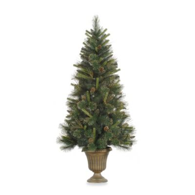 Vickerman 5-Foot 28-Inch Gold Glitter Tip Mixed Tree with clear Mini Lights