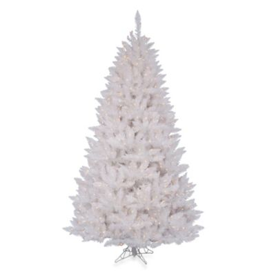 4 1/2-Foot Sparkle White Spruce Christmas Tree with 200 LED Frosted Pure White Lights