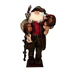 36-Inch Santa with Bear and Rocking Horse