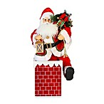 Animated, Muscial 24-Inch Santa in Chimney
