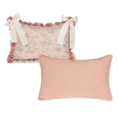 Glenna Jean Madison Pink and Tan Check Pillow Sham