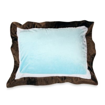 Brown and Blue Pillow Shams