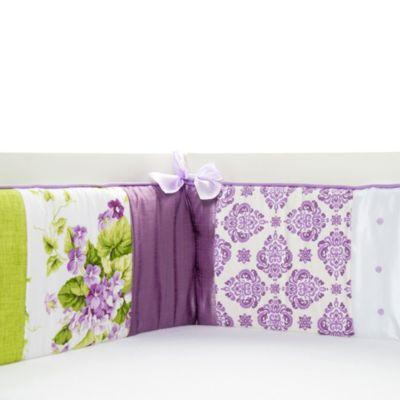 Glenna Jean Sweet Violets Crib Bumper