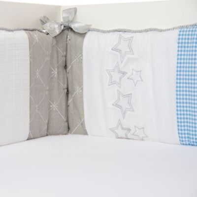 Crib Bedding Silver Metallic