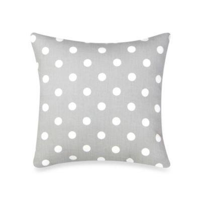 Glenna Jean Bella & Friends Dot Throw Pillow in Grey