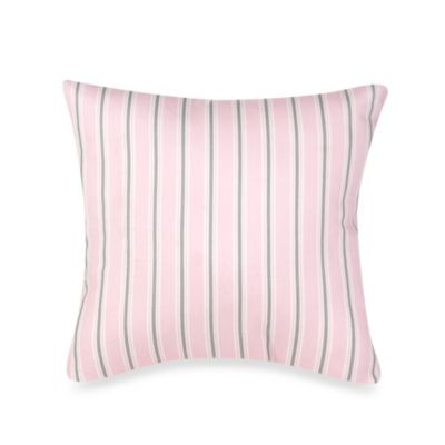 Glenna Jean Bella & Friends Striped Throw Pillow in Pink