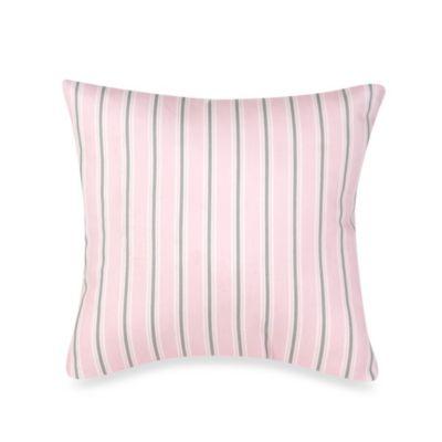 Glenna Jean Bella & Friends Striped Throw Pillow in Pink