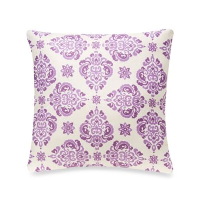 Glenna Jean Sweet Violets 13-Inch Square Damask Pillow