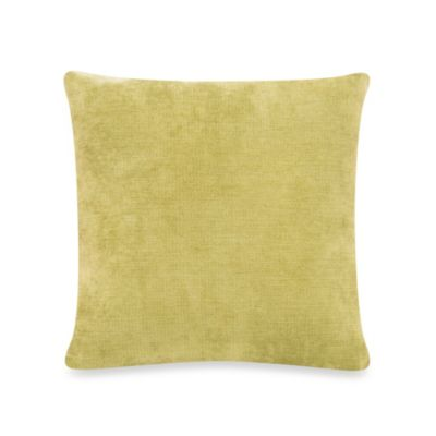 Glenna Jean Uptown Traffic Square Velvet Pillow in Green