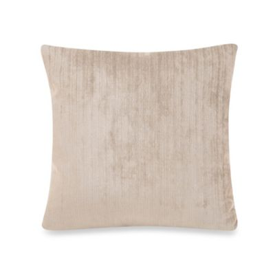 Glenna Jean Uptown Traffic Square Velvet Pillow in Grey