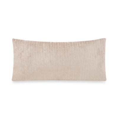 Glenna Jean Uptown Traffic Velvet Rectangular Pillow in Grey