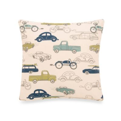 Glenna Jean Uptown Traffic Square Cars Pillow