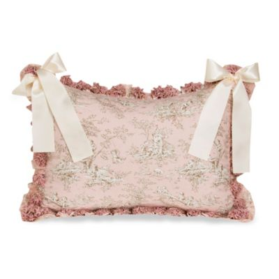 Glenna Jean Madison Toile Pillow Sham with Ruffle and Bow