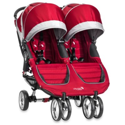 Strollers > Baby Jogger® City Mini™ Double Stroller in Crimson/Grey