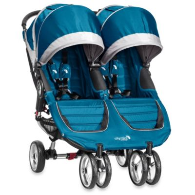 Baby Jogger® City Mini™ Double Stroller in Teal/Grey