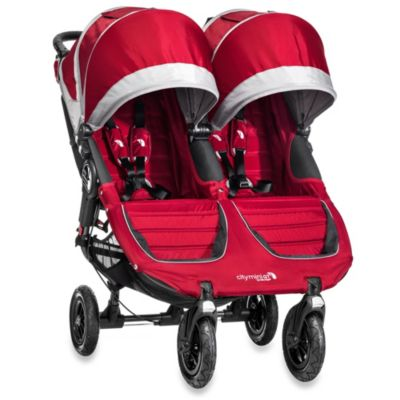 Baby Jogger® City Mini GT™ Double Stroller in Crimson/Grey