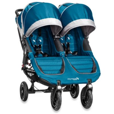 Baby Jogger® City Mini™ GT Double Stroller in Teal/Grey