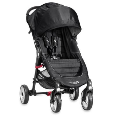 Baby Jogger® City Mini Single 4 Wheel Stroller in Black/Grey