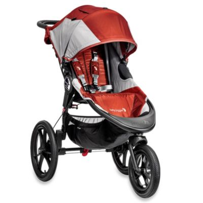 Orange Grey Single Stroller