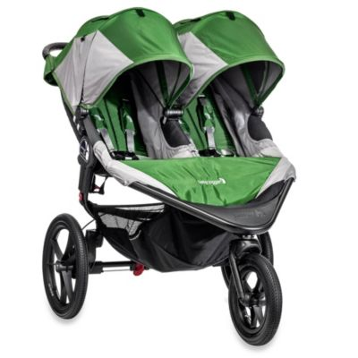 Green Grey Double Stroller