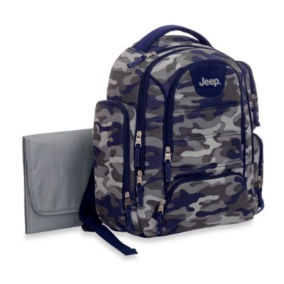 Jeep® Camo Print Diaper Bag in Blue