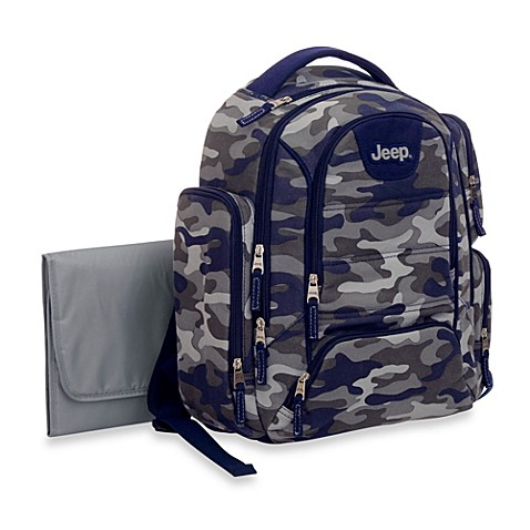 buy jeep camo print diaper bag in blue from bed bath beyond. Black Bedroom Furniture Sets. Home Design Ideas