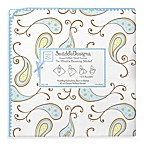 SwaddleDesigns® Triplets Paisley Ultimate Receiving Blanket in Pastel Blue