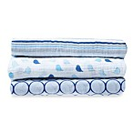SwaddleDesigns® SwaddleLite Jewel Tone Marquisette 3-Pack Blanket Set in True Blue