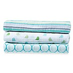 SwaddleDesigns® SwaddleLite Jewel Tone Marquisette 3-Pack Blanket Set in Turquoise