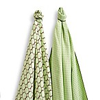 SwaddleDesigns® SwaddleDuo™ Modern Duo Blankets in Kiwi (Set of 2)