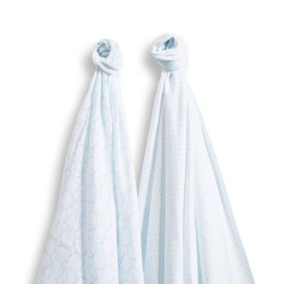Blue Swaddle Duo
