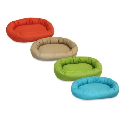 Pooch & Kitty Piped/Reversible Sonic Double Diamond Bolster Pet Bed