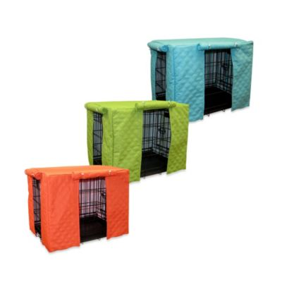 Pooch & Kitty Sonic Double Diamond Medium Crate Cover in Leaf