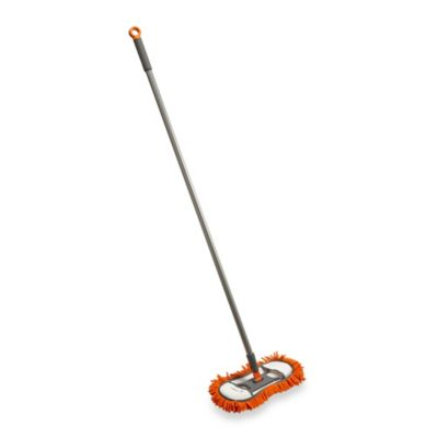 Casabella® Flexible Floor Duster in Graphite/Orange