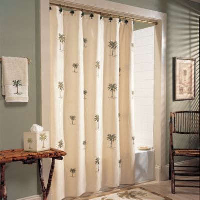 Port of Call 70-Inch W x 75-Inch L Shower Curtain
