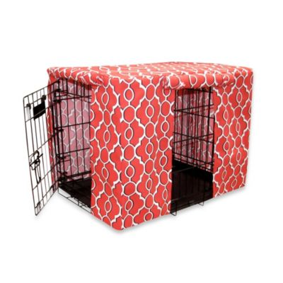 Pooch & Kitty Drammen Small Crate Cover in Red