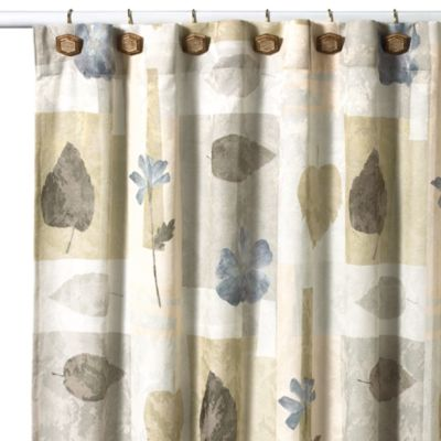 Croscill® Spa Leaf 70-Inch x 75-Inch Fabric Shower Curtain