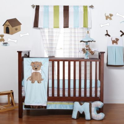 One Grace Place Puppy Pal 5-Piece Crib Bedding Set