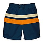 i play.® Mod Ultimate Swim Diaper Block Board Shorts in Navy/Orange