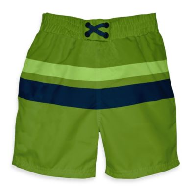 i play.® Mod Ultimate Swim Diaper Block Board Shorts in Olive/Navy