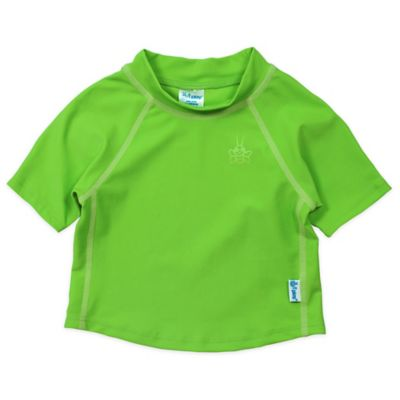i play.® Short Sleeve Size 6 Months Rashguard in Basic Lime