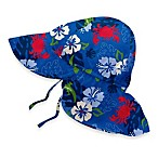 i play.® Flap Sun Hat in Royal Hibiscus