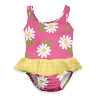 i play.® Mod Ultimate Swim Diaper Daisy 1-Piece Skirty Tanksuit in Hot Pink