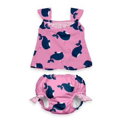 i play.® Mod Ultimate Swim Diaper Whale 2-Piece Tankini in Light Pink