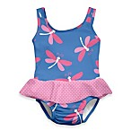i play.® Mod Ultimate Swim Diaper Dragonfly 1-Piece Skirty Tanksuit in Periwinkle