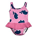 i play.® Mod Ultimate Swim Diaper Whale 1-Piece Skirty Tanksuit in Pink