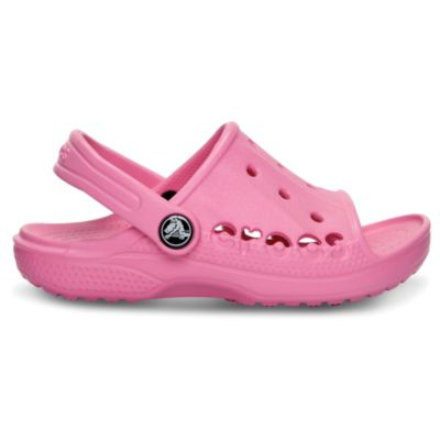 Crocs™ Baya Kids Slide Sandals in Pink Lemonade