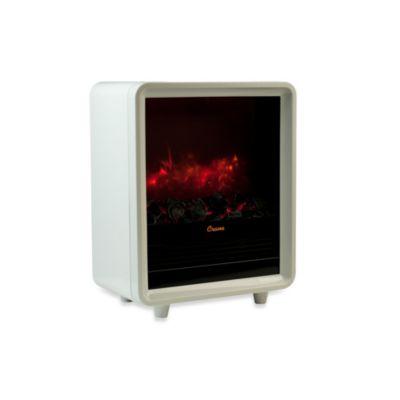 Crane Mini Fireplace Heater in White