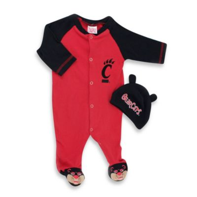 University of Cincinnati Mascot 1-Piece Footie w/Cap