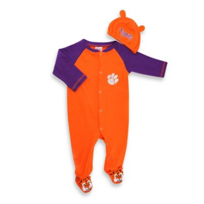 Clemson University Mascot 1-Piece Footie w/Cap